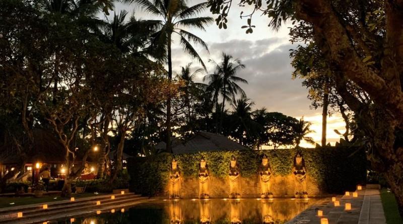 Balinese Bath pool evening